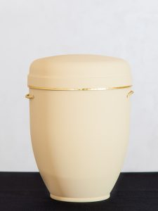 U1 Naturstoff, creme mit Goldband