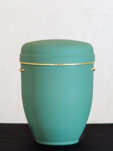 U1 Naturstoff, mintgrün mit Goldband