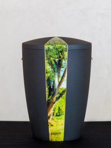 U3 Naturstoff, mit Motivausschnitt Wald